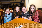 Aoife Ní Chinnéide, Leah Ní Chonchúir, Hayley Getkate and Kayla Getkate, from Scoil an Ghleanna, at the Credit Union Schools Table Quiz at Benners Hotel, Dingle, on Friday night.