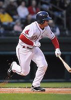 April 13, 2009: Catcher Tim Federowicz (18) of the Greenville Drive on the team's 2009 home opener against the Hickory Crawdads at Fluor Field at the West End in Greenville, S.C. Photo by: Tom Priddy/Four Seam Images