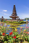 Ulun Danu Temple at Beratan Lake, Temple on the lake, Bedugul - Bali, Indonesia