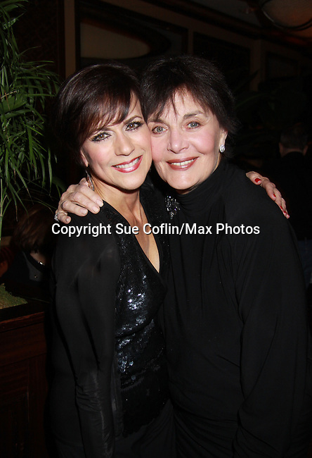 """Linda Dano came to see As The World Turns Colleen Zenk as she stars in her one-woman cabaret show """"Colleen Zenk - Still Sassy"""" on October 30, 2011 at Feinstein's at Loews Regency, New York City, New York.  (Photo by Sue Coflin/Max Photos)"""