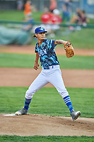 Ogden Raptors starting pitcher Jose Chacin (26) delivers a pitch to the plate against the Billings Mustangs at Lindquist Field on August 17, 2018 in Ogden, Utah. Billings defeated Ogden 6-3. (Stephen Smith/Four Seam Images)