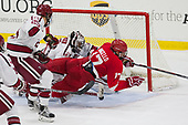 Wiley Sherman (Harvard - 25), Merrick Madsen (Harvard - 31), Anthony Angello (Cornell - 17) - The Harvard University Crimson defeated the visiting Cornell University Big Red on Saturday, November 5, 2016, at the Bright-Landry Hockey Center in Boston, Massachusetts.