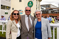 Connections of Cotton Club in the winners enclosure during Afternoon Racing at Salisbury Racecourse on 13th June 2017