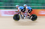 Rio de Janeiro-3/9/2016-Jean-Michel Lachance and Daniel Chalifour practice before their tandem cycling event at the Rio 2016 Paralympic Games at the Barra Velodrome. Photo Scott Grant/Canadian Paralympic Committee