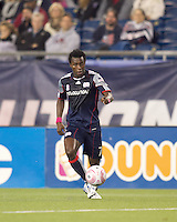 New England Revolution midfielder Kenny Mansally (7) passes the ball. Real Salt Lake defeated the New England Revolution, 2-1, at Gillette Stadium on October 2, 2010.