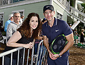 DELRAY BEACH, FL - NOVEMBER 24: Scott Foley and Genevieve Penta (L) attends the 30TH Annual Chris Evert Pro-Celebrity Tennis Classic Day3 at the Delray Beach Tennis Center on November 24, 2019 in Delray Beach, Florida.  ( Photo by Johnny Louis / jlnphotography.com )