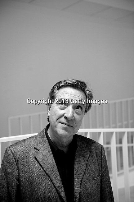 MADRID, SPAIN - MARCH 06: Spanish journalist Inaki Gabilondo poses during a portrait session before the presentation of the book 'Apocalipsis Now' written by Vicente Verdu at Centro Cultural de Sanchinarro on March 6, 2013 in Madrid, Spain.  (Photo by Juan Naharro Gimenez)