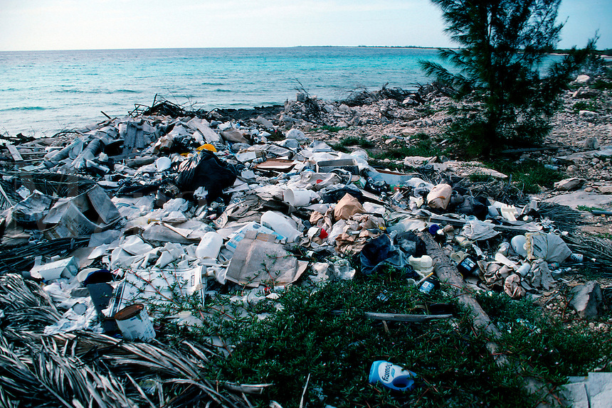 Coastal pollution, Caribbean, Atlantic Ocean
