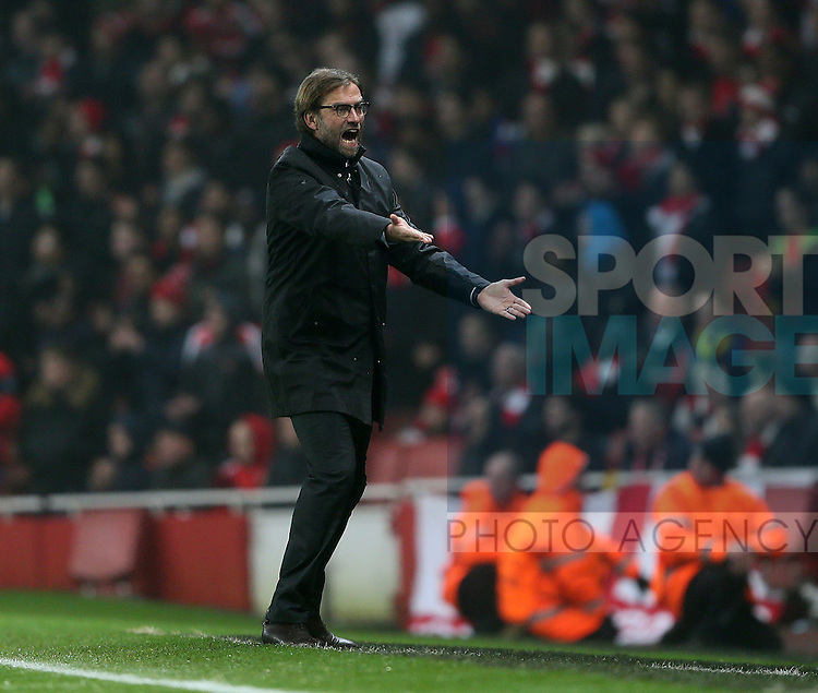 Dortmund's Jurgen Klopp looks on dejected<br /> <br /> UEFA Champions League- Arsenal vs Borussia Dortmund- Emirates Stadium - England - 26th November 2014 - Picture David Klein/Sportimage