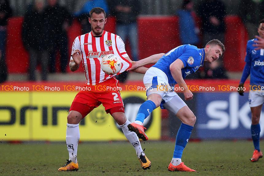 Luke Wilkinson of Stevenage during Stevenage vs Portsmouth, Sky Bet League 2 Football at the Lamex Stadium, Stevenage