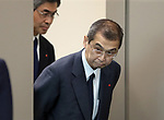 June 26, 2017, Tokyo, Japan - Japan's automobile parts maker Takata president Shigehisa Takata arrives at a press conference to announce the company's bankruptcy in Tokyo on Monday, June 26, 2017. Takata filed for bankruptcy protection, Japan's largest failure of manufacturing sector, to Tokyo district court as a global recall of the company's automotive air bags.   (Photo by Yoshio Tsunoda/AFLO) LwX -ytd-