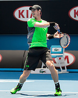 Andy Murray (GBR)<br /> <br /> Tennis - Australian Open 2015 - Grand Slam -  Melbourne Park - Melbourne - Victoria - Australia  - 19 January 2015. <br /> &copy; AMN IMAGES