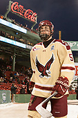 Casey Fitzgerald (BC - 5) - The Boston College Eagles defeated the Providence College Friars 3-1 (EN) on Sunday, January 8, 2017, at Fenway Park in Boston, Massachusetts.The Boston College Eagles defeated the Providence College Friars 3-1 (EN) on Sunday, January 8, 2017, at Fenway Park.