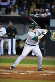 Siena Saints first baseman Joe Drpich (47) at bat during a game against the UCF Knights on February 17, 2017 at UCF Baseball Complex in Orlando, Florida.  UCF defeated Siena 17-6.  (Mike Janes/Four Seam Images)
