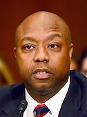 United States Senator Tim Scott (Republican of South Carolina) appears at the US Senate Committee on Health, Education, Labor and Pensions hearing  considering the confirmation of Betsy DeVos of Grand Rapids, Michigan to be US Secretary of Education on Capitol Hill in Washington, DC on Tuesday, January 17, 2017.<br /> Credit: Ron Sachs / CNP