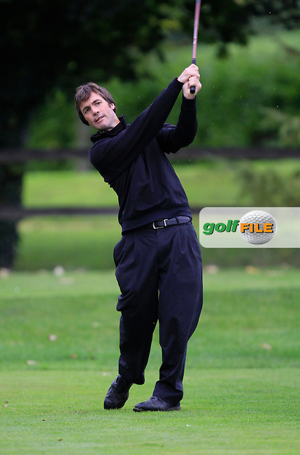 Tim Rice on the 3rd tee during Round 4 of The Cassidy Golf 103rd Irish PGA Championship in Roganstown Golf Club on Sunday 13th October 2013.<br /> Picture:  Thos Caffrey / www.golffile.ie