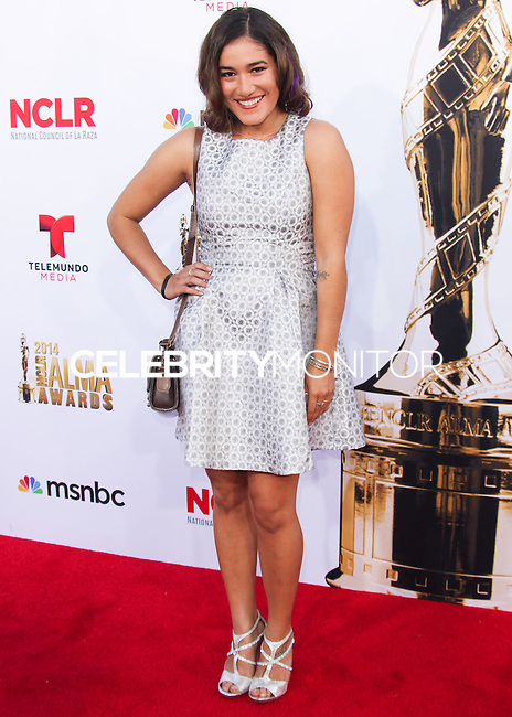 PASADENA, CA, USA - OCTOBER 10: Q'Orianka Kilcher arrives at the 2014 NCLR ALMA Awards held at the Pasadena Civic Auditorium on October 10, 2014 in Pasadena, California, United States. (Photo by Celebrity Monitor)