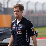 Formula 1 United States Grand Prix 2014, 31.10.-02.11.14<br /> Fahrerparade/Drivers Parade:<br /> Sebastian Vettel (GER#1), Infiniti Red Bull Racing<br /> Foto &copy; nordphoto /  Bratic