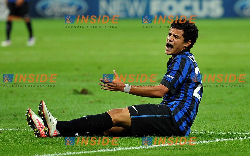 "COUTINHO (Inter).Milano 14/9/2011 Stadio ""Giuseppe Meazza"".Serie A 2011/2012 UEFA Champions League.Football Calcio Inter Vs Trabzonspor.Foto Insidefoto Alessandro Sabattini."