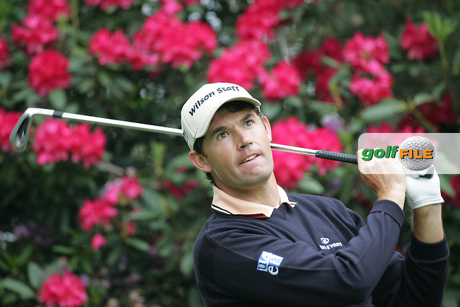 Padraig Harrington drives off on the 11th tee during the 3rd round of the BMW PGA Championship at Wentworth Club, Surrey, England 26th may 2007 (Photo by Eoin Clarke/NEWSFILE)