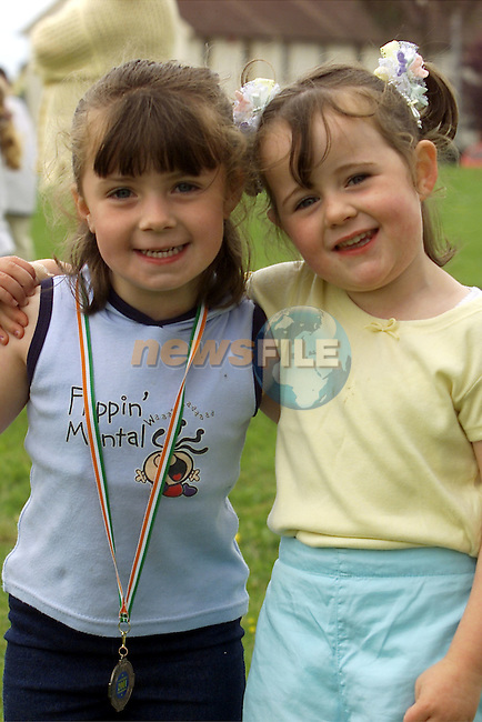 Lauren Owens, Yellowbatter and Alice McGuirke, Glenfield pictured at Yellowbatter sportsday..Picture: Arthur Carron/Newsfile