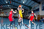 Ian Mcloughlin Killorglin CYMS goes for glory against St Marys  in the Div 1 Men final at the St Marys Basketball Blitz on Saturday
