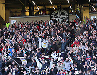 St Mirren fans celebrate in the St Mirren v Celtic Scottish Communities League Cup Semi Final match played at Hampden Park, Glasgow on 27.1.13.