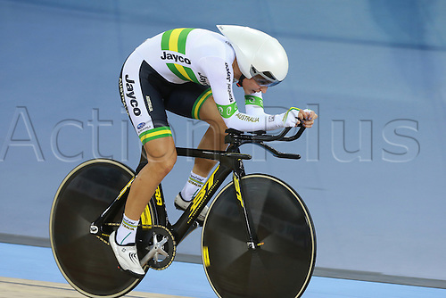 02.03.2016. Lee Valley Velo Centre, London, England. UCI Track Cycling World Championships Womens Individual Pursuit.   Rebecca Wiasak (AUS) takes gold