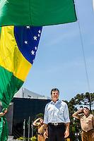 CURITIBA, PR, 19 DE NOVEMBRO DE 2013 - APRESENTAÇÃO DOS NOVOS POLICIAIS. Foi realizada na manha dessa terça-feira (19), às 11h30, no Palácio Iguaçu,sede do governo do Paraná, a solenidade de apresentação de 800 novos Policiais Militares e 113 bombeiros que irão atuar em todo o Paraná. Os novos policiais fazem parte do maior concurso da PM já realizado no Estado, que prevê a contratação de 5.264 novos profissionais.Na foto camisa azul Governador do Paraná Beto Richa. FOTO: PAULO LISBOA / BRAZIL PHOTO PRESS.