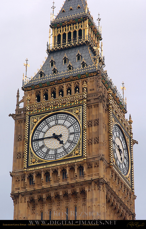 Elizabeth Clock Tower, Big Ben, Westminster Palace, London, England, UK