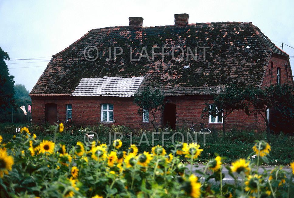 Poland, September, 1981 - A farm house in the Torun region.
