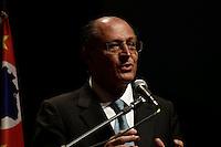 SÃO PAULO, 22 DE FEVEREIRO DE 2013 - AGENDA GERALDO  ALCKMIN ´O Governador Geraldo Alckmin durante a solenidade de posse de 120 novos Defensores Públicos. A posse aconteceu no Auditório Simón Bolivar do Memorial da América Latina, na tarde desta sexta-feira(22), zona oeste da capital - (FOTO: LOLA OLIVEIRA//BRAZIL PHOTO PRESS)