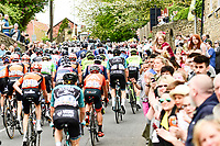 Picture by SWpix.com - 04/05/2018 - Cycling - 2018 Tour de Yorkshire - Stage 2: Barnsley to Ilkley - Yorkshire, England - Fans and supporters cheer on the riders on in South Elmsall.