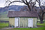 A landscape shot is taken of a 100 year old shed at LP Ranch in San Benito, Calif., on January 5,2013.