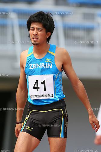 Kenji Fujimitsu (JPN), <br /> MAY 18, 2013 - Athletics : <br /> The 55th East Japan Industrial Athletics Championship <br /> Men's 100m <br /> at Kasamatsu Athletics Stadium, Ibaraki, Japan. <br /> (Photo by YUTAKA/AFLO SPORT)