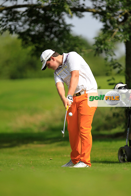 Michael McGurk (Warrenpoint) on the 11th tee during the Irish Boys Under 15 Amateur Open Championship Round 2 at the West Waterford Golf Club on Wednesday 21st August 2013 <br /> Picture:  Thos Caffrey/ www.golffile.ie
