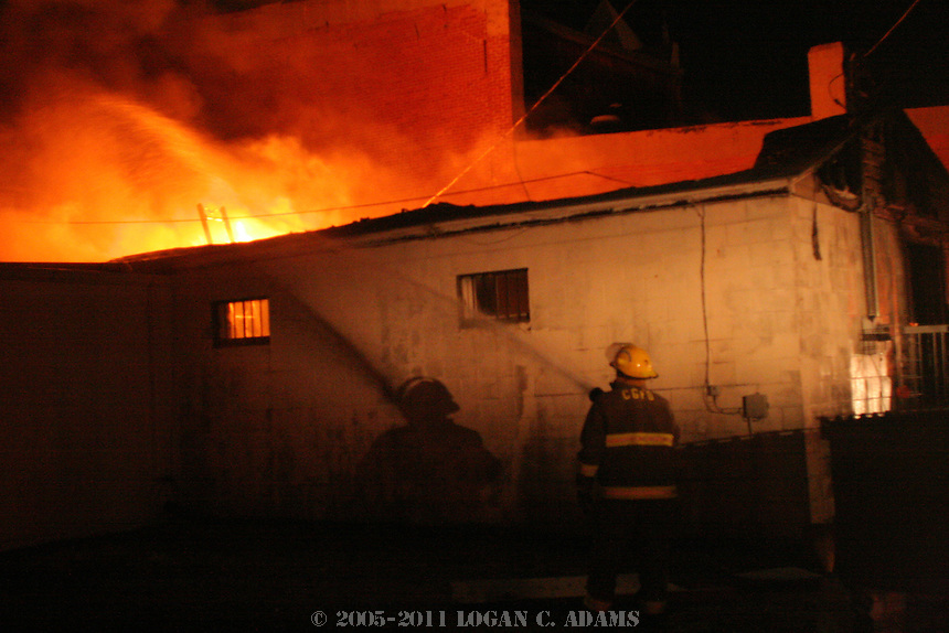 Crossroads Cafe Fire on July 1, 2006. <br /> <br /> Much of the building was destroyed when a small electrical fire started in the kitchen and spread toward the front of the restaurant, gutting parts of the building and causing damaged to nextdoor businesses.