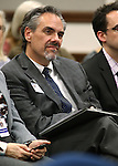 Nevada Superintendent Dale Erquiaga works in a committee hearing at the Legislative Building in Carson City, Nev., on Thursday, March 26, 2015. <br /> Photo by Cathleen Allison