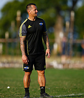 Carlos Spencer (Assistant Coach) of the Hurricanes during the Hurricanes training session at  Northwood High School Durban North in Durban, South Africa on Tuesday, 28 May 2019. Photo: Steve Haag / stevehaagsports.com