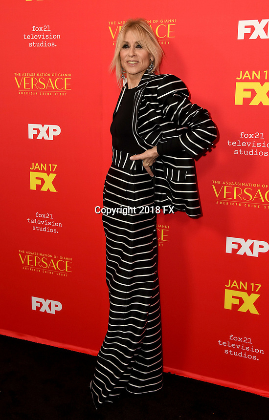"HOLLYWOOD - JANUARY 8: Judith Light attends the Red Carpet Premiere Event for FX's ""The Assassination of Gianni Versace: American Crime Story"" at ArcLight Hollywood on January 8, 2018, in Hollywood, California. (Photo by Scott Kirkland/FX/PictureGroup)"