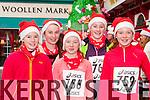 Orla Coffey, Margaret O'Brien, Aisling Coffey, Emma Coffey and Niamh Coffey at the Killarney Jingle run on Sunday