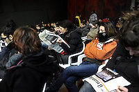 "Marghera, 22-23 Gennaio 2011Seminario - meeting Uniti contro la crisi, incontro tra movimenti sindacato Fiom e associazioni...Marghera, 22-23 January 2011Seminar - meeting ""United against the crisis, "" meeting between trade union movements and associations Fiom"