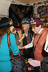 Jane Elissa, friend and Days of Our Lives' Louise Sorel stop by Jane Elissa' Hats for Health (promoting awareness and to raise money for Leukemia/Lymphoma cancer research and patient aid) booth at the Grand Central's Vanderbilt Hall Holiday Fair on December 24, 2010 in New York City, New York. There are 76 vendors with the fair running from Thanksgiving to Dec. 24. (Photo by Sue Coflin/Max Photos)