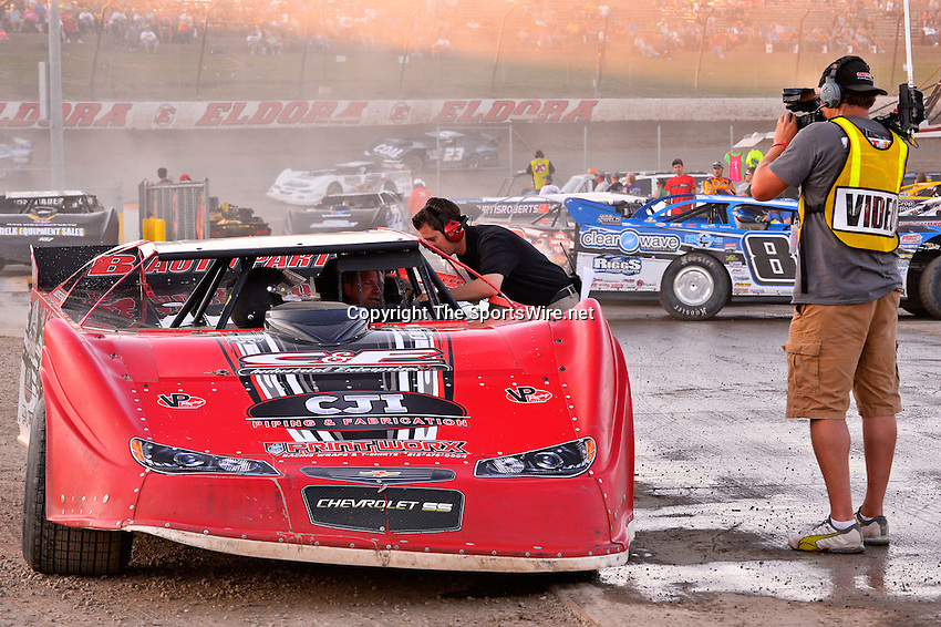 Jun 6, 2014; 7:18:07 PM; Rossburg, OH., USA; The 20th annual Dirt Late Model Dream XX in an expanded format for Eldora's $100,000-to-win race includes two nights of double features, 567 laps of action  Mandatory Credit:(thesportswire.net)