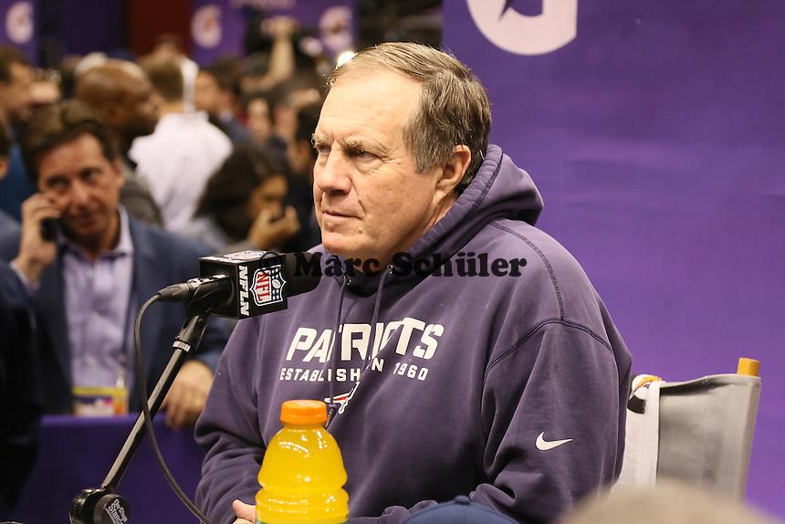 Trainer Bill Belichick (Patriots) - Super Bowl XLIX Media Day, US Airways Center, Phoenix