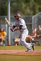 Central Michigan Chippewas third baseman Morgan Oliver (5) at bat during a game against the Boston College Eagles on March 8, 2016 at North Charlotte Regional Park in Port Charlotte, Florida.  Boston College defeated Central Michigan 9-3.  (Mike Janes/Four Seam Images)