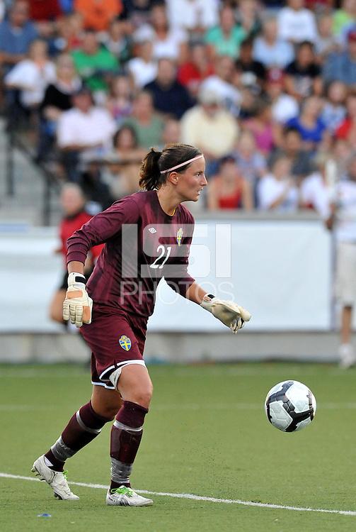 Sofia Lundgren...USWNT tied Sweden 1-1 at Morrison Stadium, Omaha Nebraska.