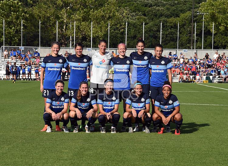 Kansas City, MO - Saturday June 25, 2016:  FC Kansas City Starting XI during a regular season National Women's Soccer League (NWSL) match at Swope Soccer Village.