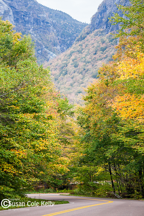Fall foliage in Smugglers Notch, VT, USA