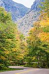Fall foliage in Smugglers Notch, VT, USA